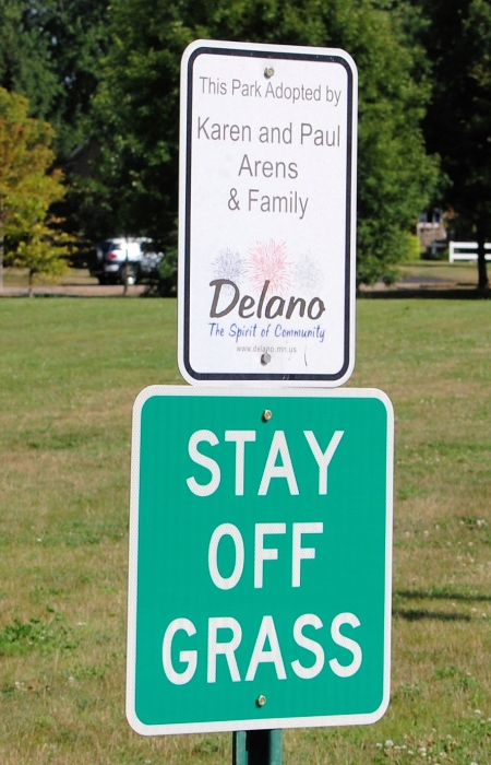 Welcome To Delano Parks Look But Don't Touch!