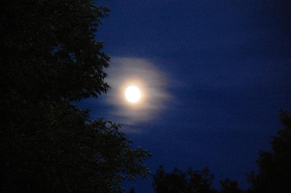 Full moon from my front door.