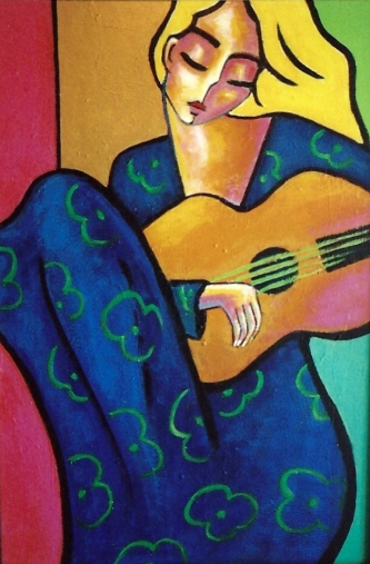 A Summer Song Original Acrylic Artwork By Stuart Glazer www.stuartglazer.com