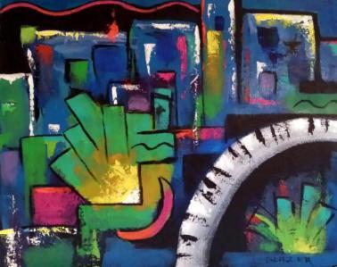 Boogie Nights Original Acrylic Artwork By Stuart Glazer www.stuartglazer.com