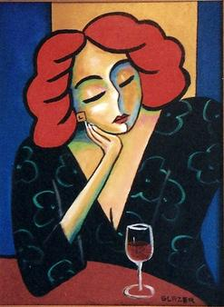 Waiting For Love Original Acrylic Artwork By Stuart Glazer www.stuartglazer.com