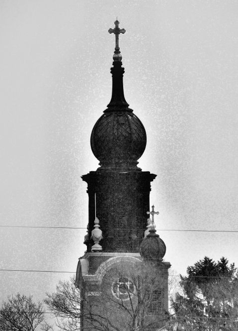 St. Peter's Catholic Church Steeple Delano, MN Photo by Clarence Holm