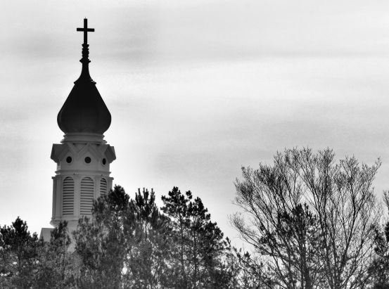 St. Mary of Czestochowa Delano, MN B&W Photo - Clarence Holm