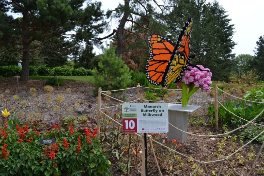 Monarch on Milkweed Minnesota Arboretum Lego Exhibit Photo - Clarence Holm 7/5/2015