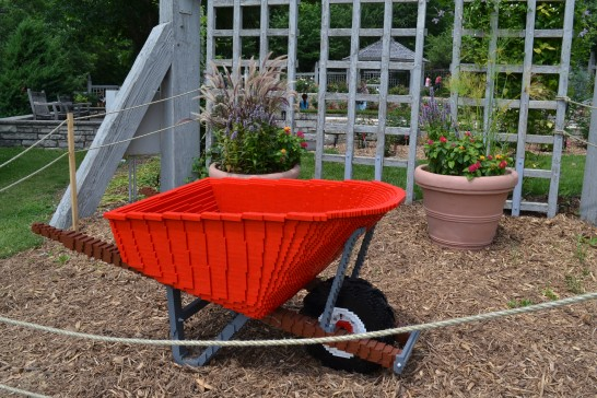 Lego Wheelbarrow Photo - Clarence Holm 7/5/2015 Minnesota Arboretum Lego Exhibit