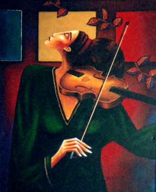 """""""Autumn Sonata"""" Original Acrylic Artwork By Stuart Glazer www.stuartglazer.com"""