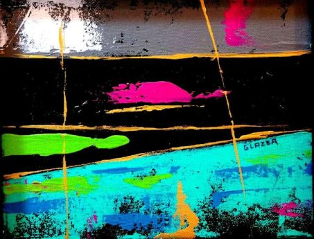 Beyond The Sunset Original Acrylic Artwork By Stuart Glazer* http://www.stuartglazer.com